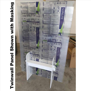 Twinwall Divider/Barrier Guard - with shelf