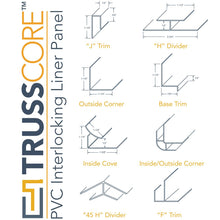 Trusscore Large Outside Corner - White