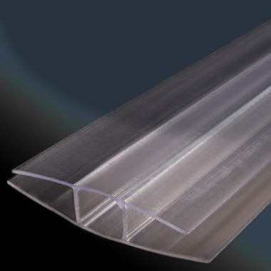 Twinwall Polycarbonate (Thermoclear) H Divider Molding - 6 mm