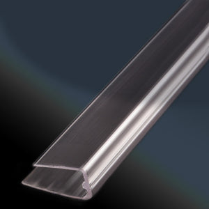 Twinwall Polycarbonate (Thermoclear) U Capping Molding - 6 mm