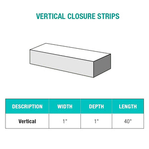 Vertical Closure Strips - Greca Corrugated Polycarbonate