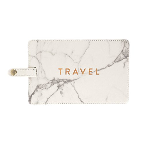 Large Marble Luggage Tag