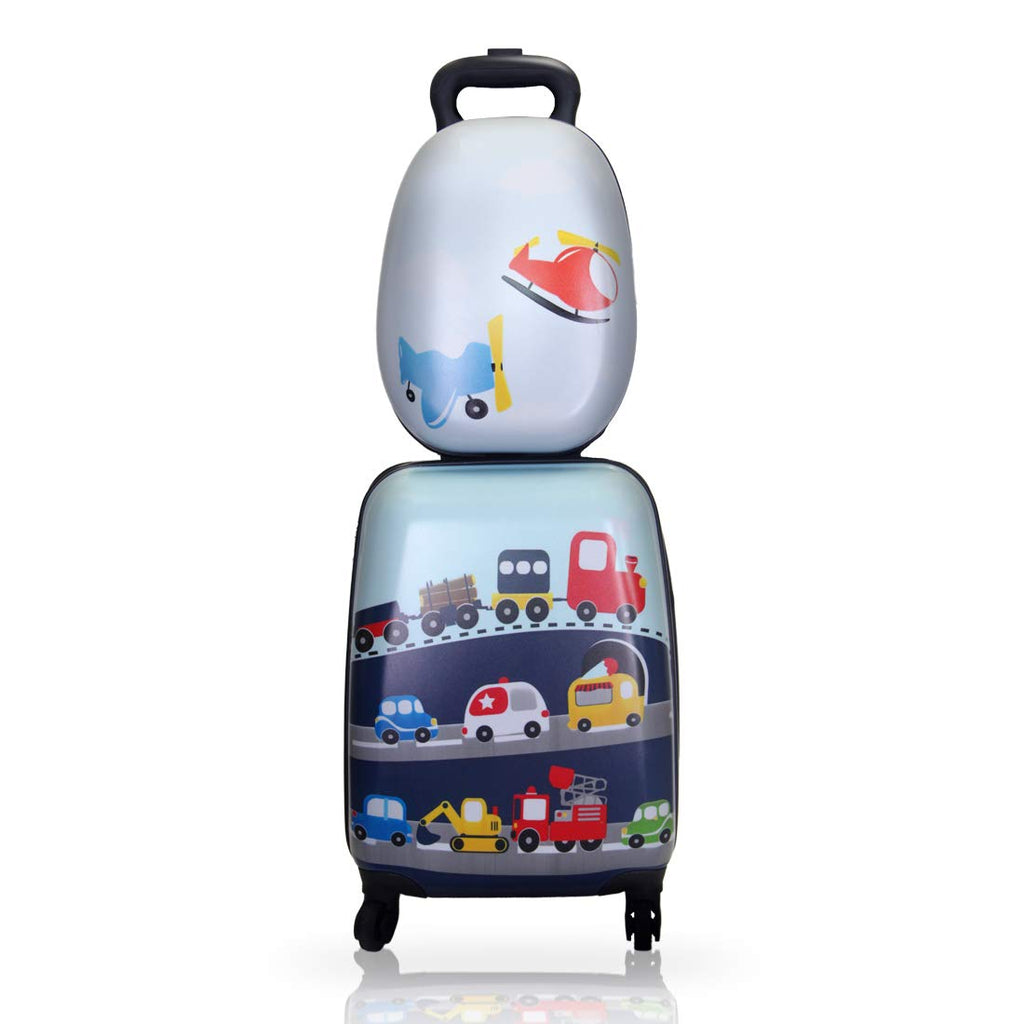 Boys Carry On Luggage Set with Spinner Wheels