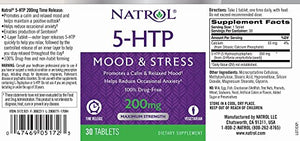 Natrol 5-HTP tablets, Promotes a Calm Relaxed Mood - 30 Count