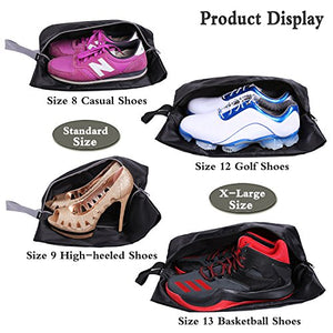 Travel Waterproof Shoe Bags, 4-Pack