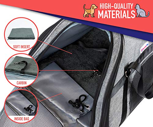 Soft Pet Carrier for Small Dogs & Cats (Airline Approved)