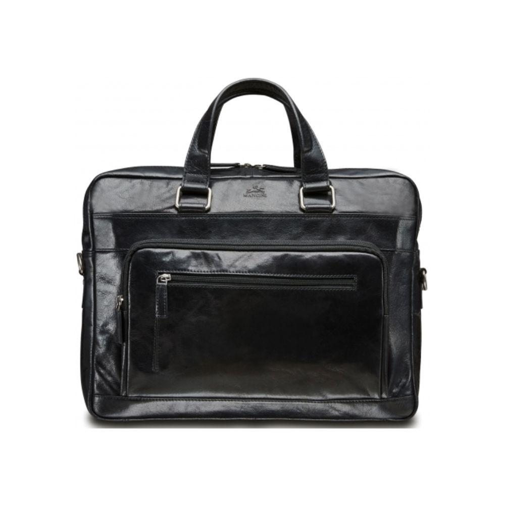 "Single Compartment 15.6"" Laptop / Tablet Briefcase - Black"