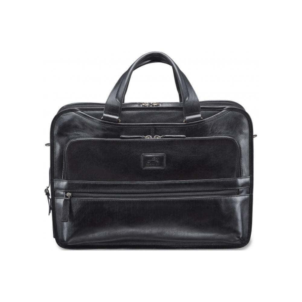 Vanizia Laptop / Tablet Compatible Triple Compartment Briefcase with RFID Secure Pocket
