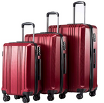 Expandable 3 Piece Suitcase Set with TSA Lock