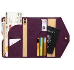 Tri-Fold Travel Passport Wallet