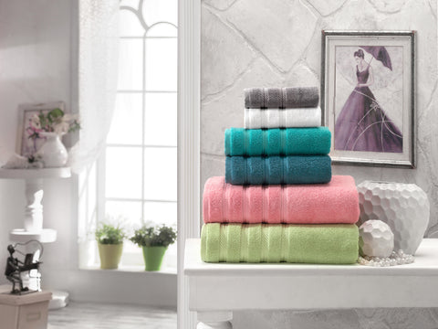 Antalya Collection 100% Turkish Cotton Bath Towel Set