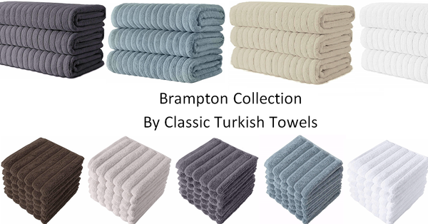 Brampton Collection by Classic Turkish Towels - Ultra premium combed cotton bath towels, hand towels, and washcloths wholesale