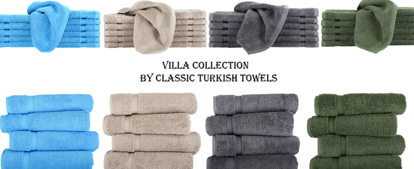 Villa Collection by Classic Turkish Towels - Cambridge Premium Quality Hand, Face & Bath Towels 100% Turkish Cotton