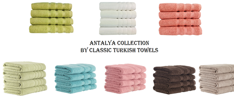 Antalya Collection Towel Set - Embroidered Quality Turkish Towels