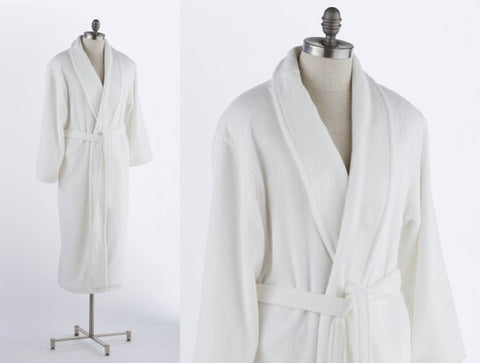 Mens Bathrobe With Shawl Collar