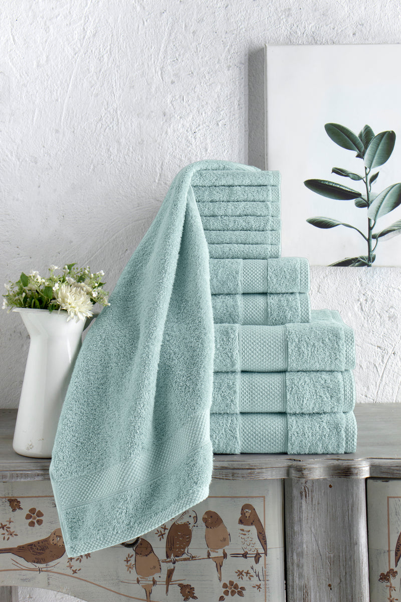 Chloe Turkish Cotton Towel Set of 12 | Classic Turkish Towels