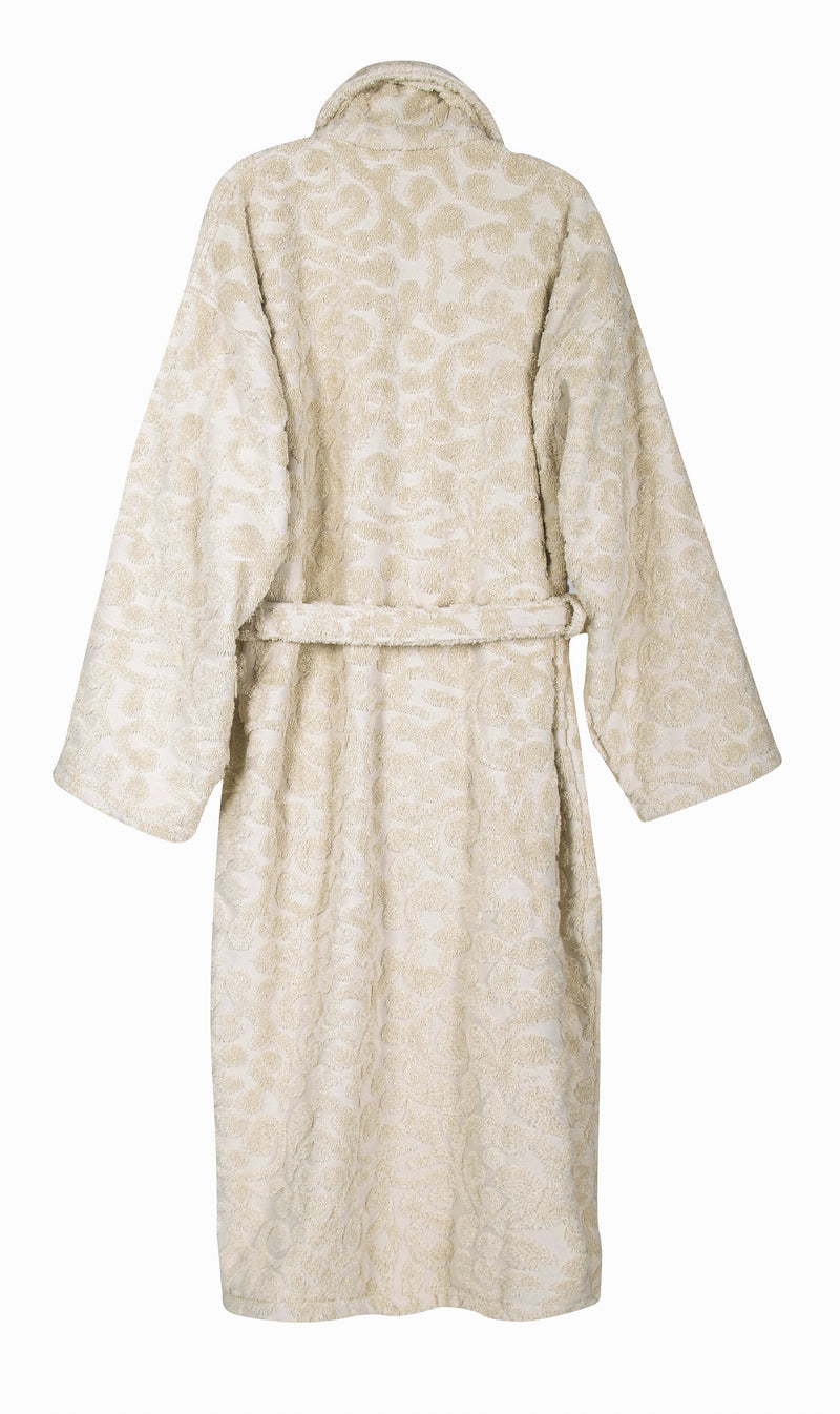 Duchene Jacquard Turkish Cotton Bathrobe | Classic Turkish Towels