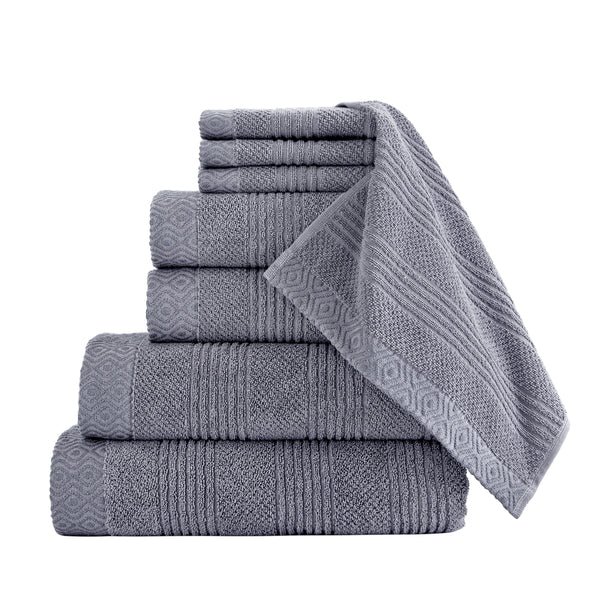 Amara Turkish Cotton Towel Set of 8 | Classic Turkish Towels