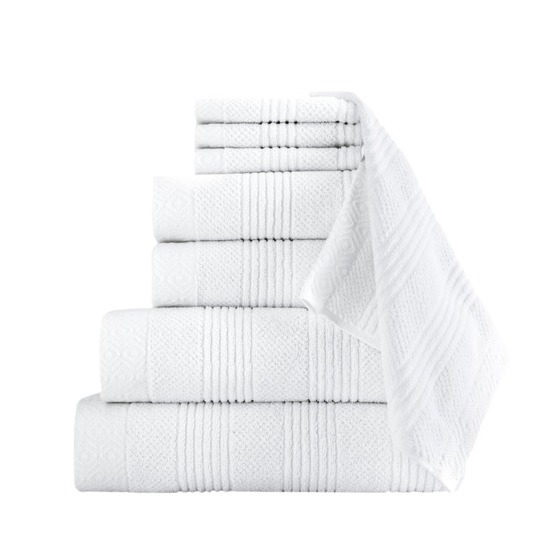 Amara Turkish Cotton Towel Set of 8 - Classic Turkish Towels