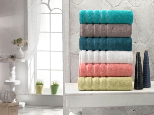 Antalya Turkish Cotton Luxury Bath Towels - 4 Pieces | Classic Turkish Towels