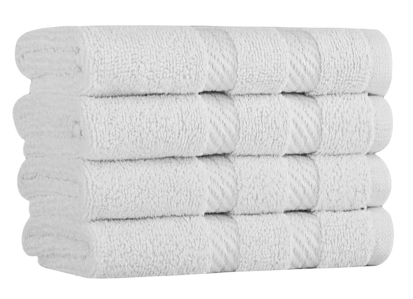 Antalya Turkish Cotton Washcloths - 4 Pieces | Classic Turkish Towels