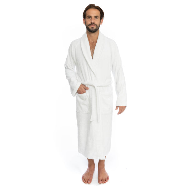 Cambridge Shawl Terry Turkish Cotton Bathrobe | Classic Turkish Towels