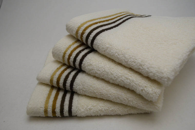 Dimora Turkish Cotton Washcloths - 4 Pieces | Classic Turkish Towels