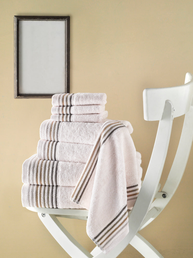 Dimora Turkish Cotton Towel Set of 8 | Classic Turkish Towels