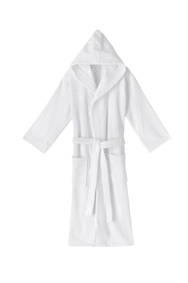Hooded Terry Turkish Cotton Bathrobe | Classic Turkish Towels