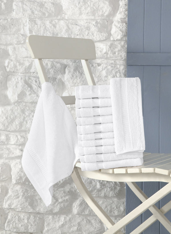 Cambridge Turkish Cotton Washcloths - 12 Pieces | Classic Turkish Towels