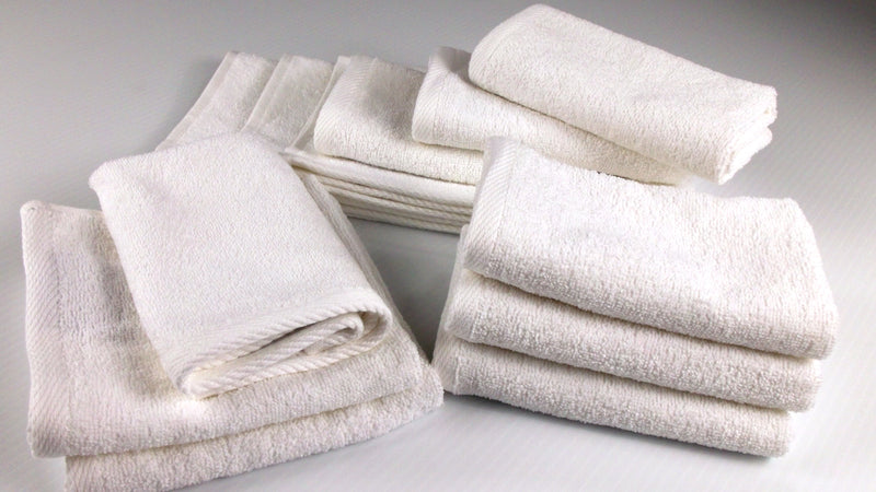 Lucia Minelli Turkish Cotton Washcloths - 12 Pieces | Classic Turkish Towels