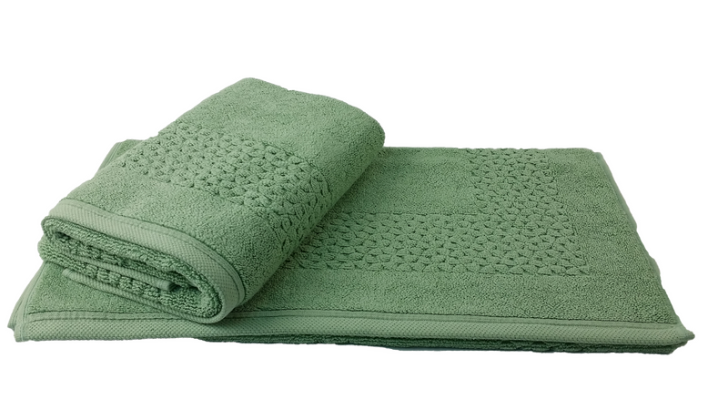 Hardwick Jacquard Turkish Cotton Bath Mat - 2 Pieces | Classic Turkish Towels