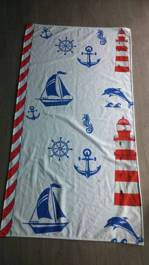 Miami Printed Turkish Cotton Summer Beach Towel - 1 Piece | Classic Turkish Towels