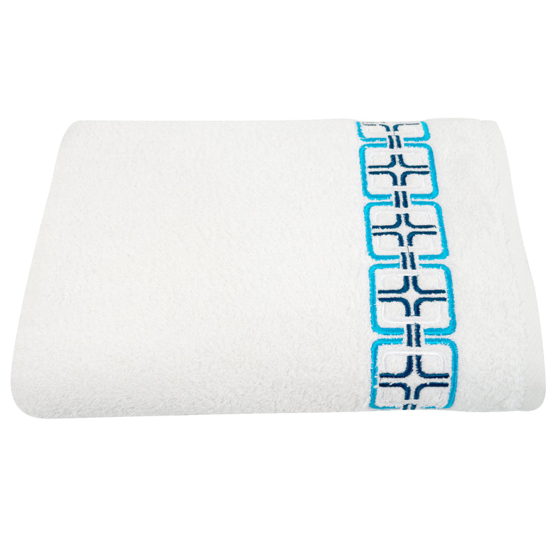 May Embroidered Turkish Cotton Bath Towel - Classic Turkish Towels