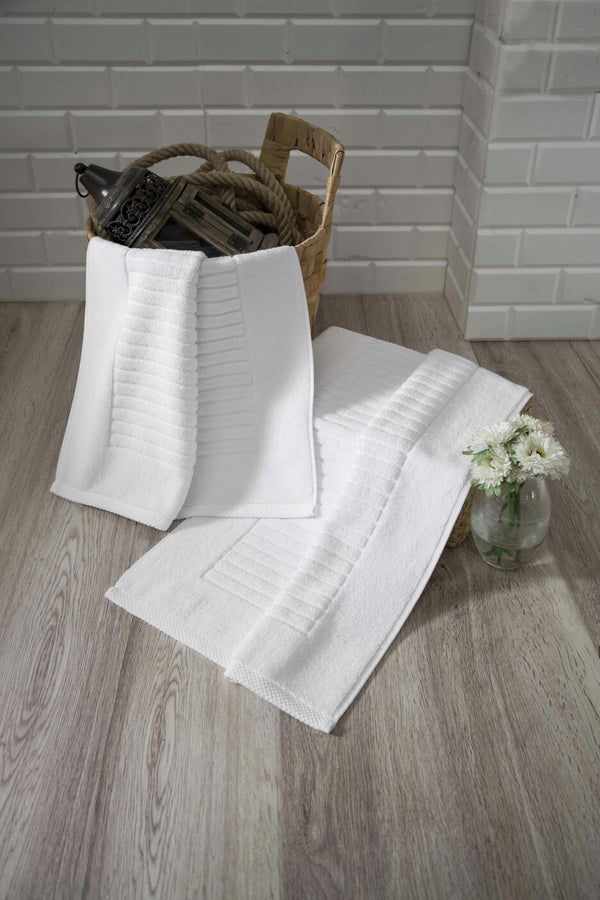 Piano Turkish Cotton Bath Mat - 2 Pieces - Classic Turkish Towels