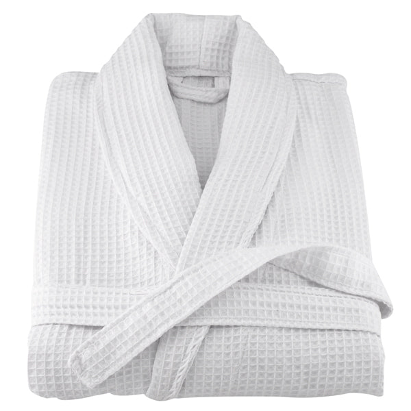 White Waffle Terry Turkish Cotton Bathrobe | Classic Turkish Towels