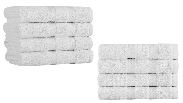 Antalya Turkish Cotton Washcloths - 8 Pieces | Classic Turkish Towels