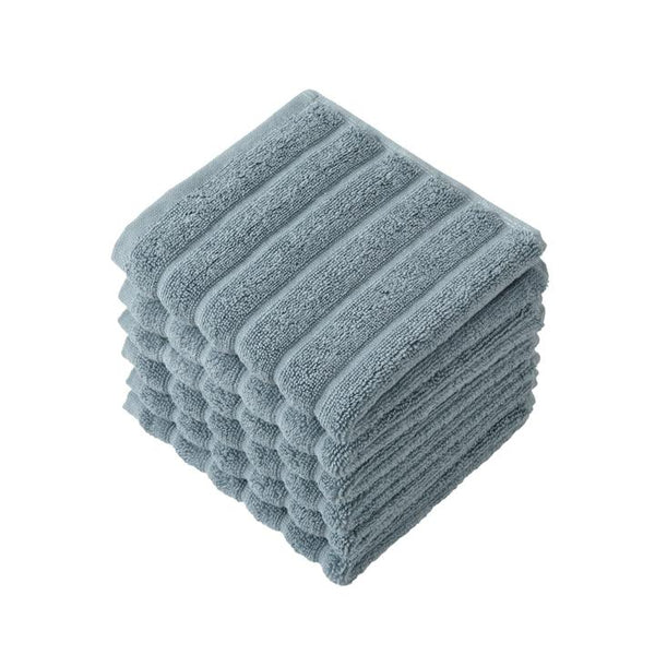 Brampton Turkish Cotton Washcloths - 6 Pieces | Classic Turkish Towels