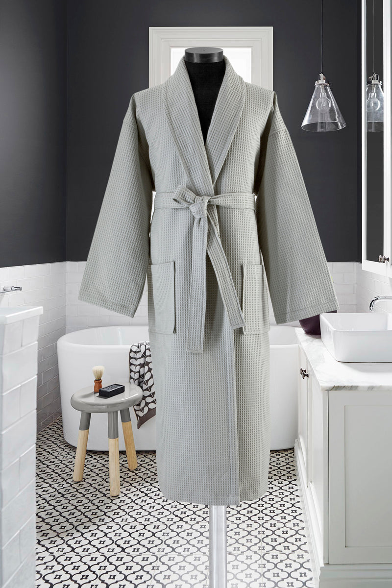 Waffle Weave Turkish Cotton Bathrobe - Classic Turkish Towels