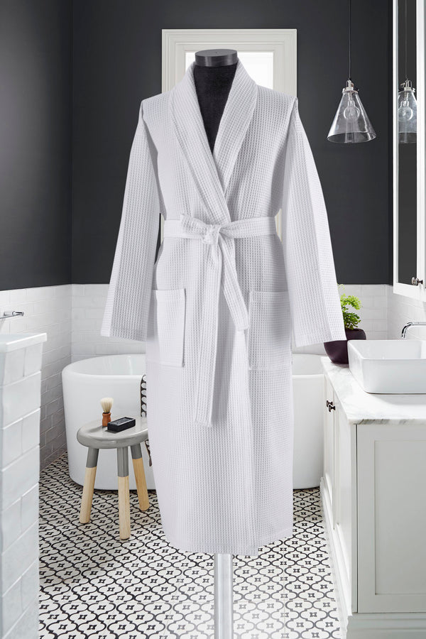 Waffle Weave Turkish Cotton Bathrobe | Classic Turkish Towels