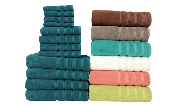 Antalya Turkish Cotton Towel Set of 12 | Classic Turkish Towels