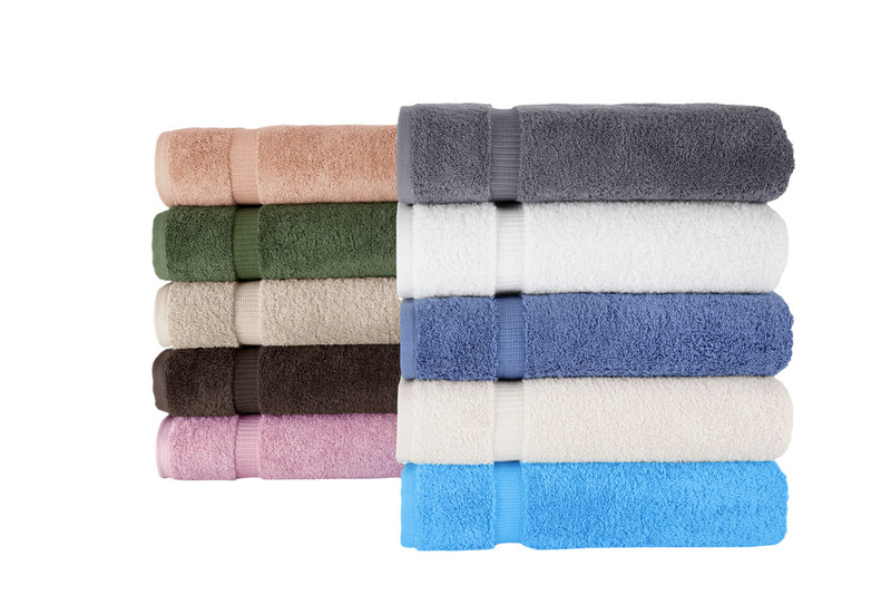 Villa Turkish Cotton Bath Towels - 4 Pieces | Classic Turkish Towels