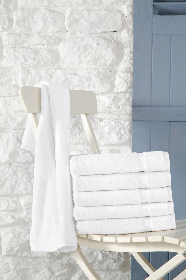 Cambridge Turkish Cotton Hand Towels - 6 Pieces | Classic Turkish Towels