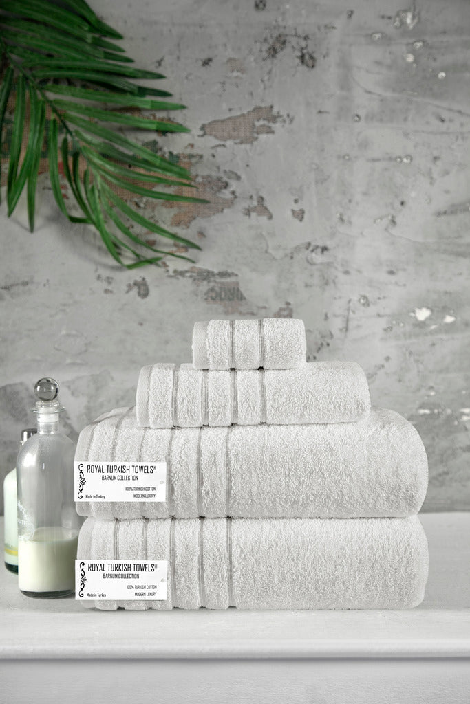 Barnum Turkish Cotton Towel Set of 4 | Classic Turkish Towels