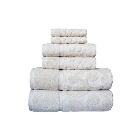 Duchene Jacquard 6-Piece Jacquard Turkish Towel Set | Classic Turkish Towels