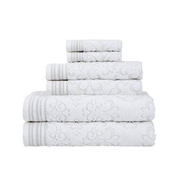 Emile Collection 6-Piece Towel Set | Classic Turkish Towels