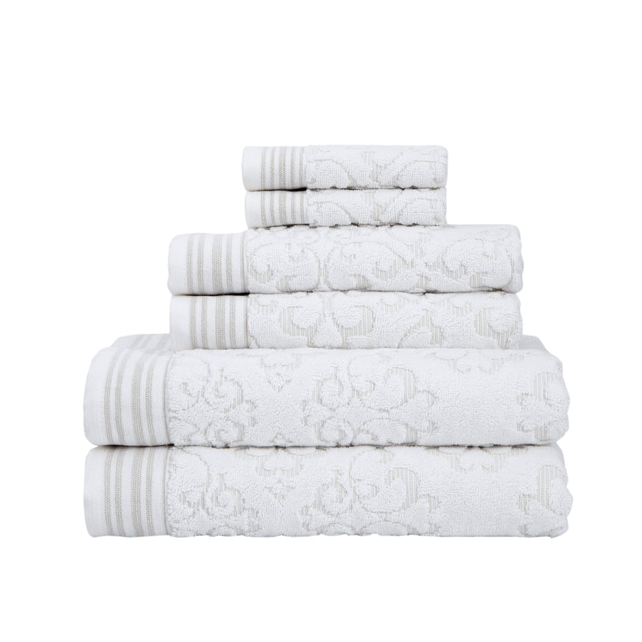 Emile Collection 6-Piece Fancy Turkish Towel Set | Classic Turkish Towels