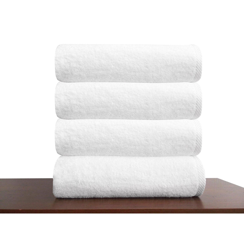 Hospitality Turkish Cotton Bath Towels - 4 Pieces | Classic Turkish Towels