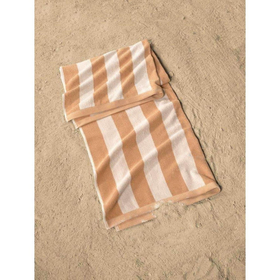 Cabana Stripe Yarn Dyed Turkish Cotton Beach Towel Set of 2 | Classic Turkish Towels