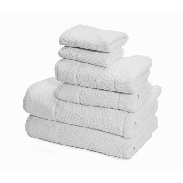 Mei-Tal Turkish Cotton Jacquard Towel Set of 6 | Classic Turkish Towels